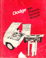 1974 Dodge Car Chassis Factory Service Manual