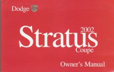 2002 Dodge Stratus Coupe Owner's Manual