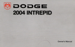 2004 Dodge Intrepid Owner's Manual