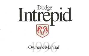 1996 Dodge Intrepid Factory Owner's Manual