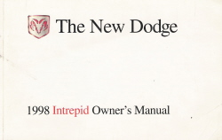 1998 Dodge Intrepid Owner's Manual