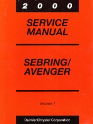 2000 Chrysler Sebring and Dodge Avenger Factory Service Manual - 2 Volume set
