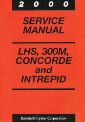 2000 Chrysler Concorde, 300M and Dodge Intrepid Service Manual