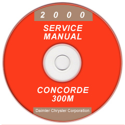2000 Chrysler Concorde, 300M and Dodge Intrepid Service Manual - CD-ROM