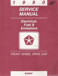 1990 Chrysler Front Wheel Drive Car - Factory Service Manual, Electrical, Fuel & Emissions