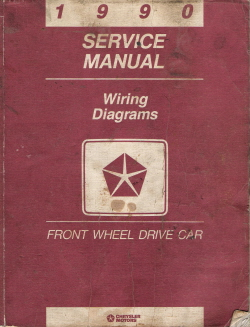 1990 Chrysler Front Wheel Drive Car - Factory Service Manual - Wiring Diagrams