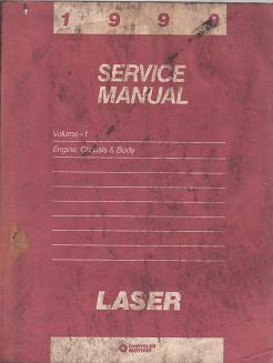1990 Plymouth Laser Service Manual - 2 Volume Set