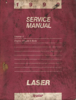 1990 Chrysler Laser Engine, Chassis and Body Service Manual - Volume 1