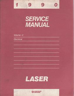 1990 Plymouth Laser Electrical Service Manual Volume 2