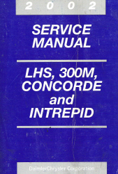 2002 Chrysler Concorde, 300M and Dodge Intrepid Service Manual