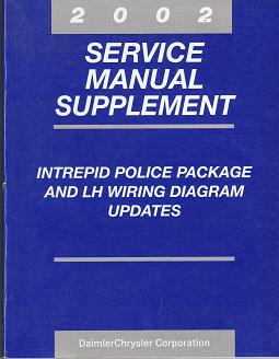 2002 Chrysler Concorde / 300M / LHS / Dodge Intrepid Police Package and LH Wiriing Diagram Updates Service Manual Supplement