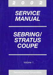 2002 Chrysler Sebring and Stratus Coupe Service Manual - 3 Volume Set