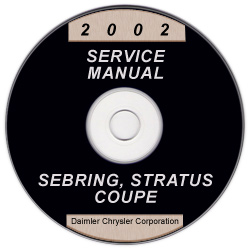 2002 Chrysler Sebring and Dodge Stratus Coupe Service Manual - CD-ROM