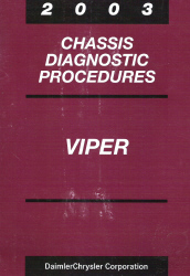 2003 Dodge Viper Chassis Diagnostic Procedures