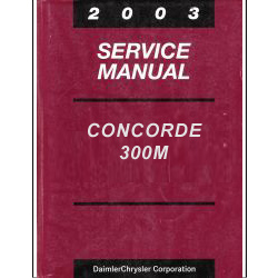 2003 Chrysler Concorde, 300M and Dodge Intrepid Service Manual