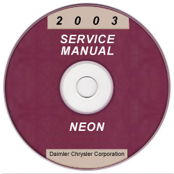 2003 Dodge Neon Service Manual - CD Rom