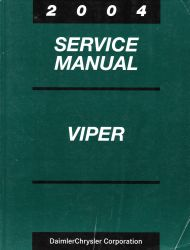 2004 Dodge Viper Factory Service Manual