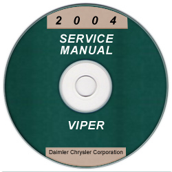 2004 Dodge Viper Service Manual- CD Rom