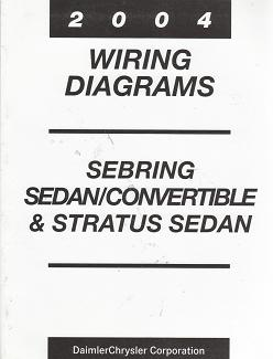 2004 Chrysler Serbring Sedan / Convertible / Dodge Stratus Sedan Wiring Diagrams