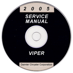2005 Dodge Viper Service Manual- CD Rom