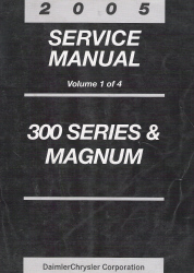 2005 Chrysler 300 & Dodge Magnum Service Manual - 4 Volume Set