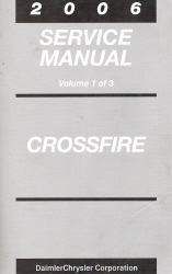 2006 Chrysler Crossfire Service Manual - 3 Volume Set