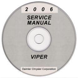 2006 Dodge Viper Service Manual- CD Rom