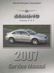 2007 Chrysler Sebring (JS) Service Manual - 5 Volume Set
