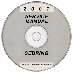 2007 Chrysler Sebring (JS) Service Manual on CD *XML & SVG*