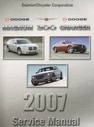 2007 Chrysler 300 & Dodge Charger, Magnum & SRT8 (LX) Service Manual - 5 Volume Set