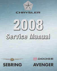 2008 Chrysler / Dodge Avenger / Cirrus / Sebring (JS) Factory Service Manual - 6 Volume Set