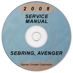 2008 Chrysler Sebring and Dodge Avenger Factory Service Manual on CD