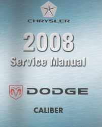 2008 Caliber (PM) Service Manual - 4 Volume Set