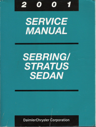 2001 Chrysler, Dodge Sebring & Stratus Sedan Factory Service Manual