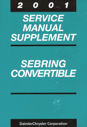 2001 Chrysler Sebring Convertible Service Manual Supplement