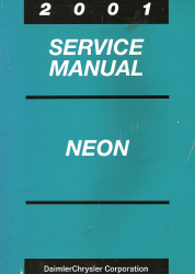 2001 Dodge / Plymouth Neon Service Manual