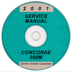 2001 Chrysler Concorde, 300M and Dodge Intrepid Service Manual - CD-ROM