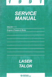 1991 Plymouth Laser and Eagle Talon Engine, Chassis and Body Service Manual - Volume 1