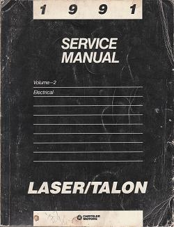 1991 Plymouth Laser / Eagle Talon Service Manual Electrical Volume 2