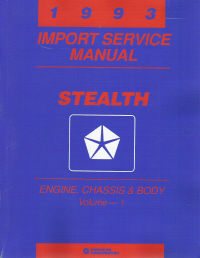 1993 Dodge Stealth Service Manual - 2 Volume Set