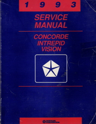 1993 Chrysler Concorde, Dodge Intrepid & Eagle Vision Factory Service Manual
