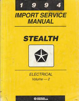 1994 Dodge Stealth Electrical Import Service Manual Volume 2
