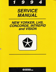 1994 Chrysler New Yorker, LHS, Concorde, Dodge Intrepid & Eagle Vision Factory Service Manual
