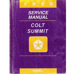 1996 Dodge and Plymouth Colt, Summit Wagon (B8) Service Manual - 2 Volume Set