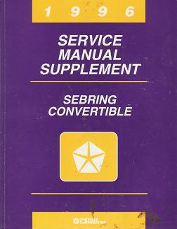 1996 Chrysler Sebring / Dodge Stratus / Plymouth Breeze Service Manual Supplement