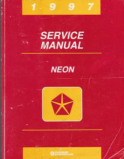 1997 Dodge Neon / Plymouth Neon Factory Service Manual