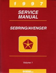 1997 Chrysler Sebring Dodge Avenger Factory Service Manual -2 Vol Set