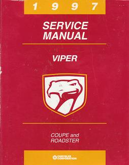 1997 Dodge Viper Coupe / Roadster Factory Service Manual
