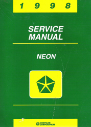 1998 Dodge/Plymouth Neon (PL) Service Manual