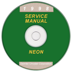 1998 Dodge/Plymouth Neon (PL) Service Manual on CD-ROM